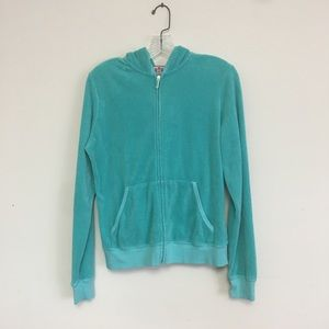 Juicy Couture Velour Jacket Blue/green hooded xl
